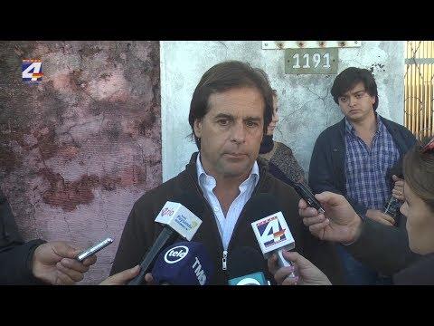Lacalle Pou recorrió departamentos afectados por la creciente