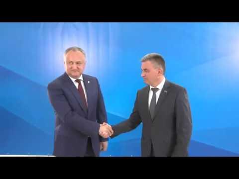 Președintele Republicii Moldova, Igor Dodon, a avut o întrevedere cu liderul transnistrean, Vadim Krasnoselski