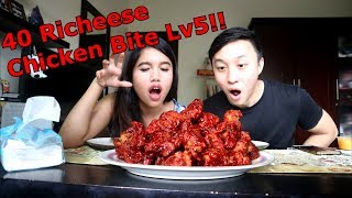 Video 40pcs Richeese fire Chicken Bite Lv5 MUKBANG CHALLENGE! ft Shely Che MP3, 3GP, MP4, WEBM, AVI, FLV Desember 2018