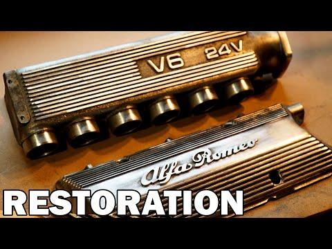 Alfa Romeo GTV Rocker Cover & Intake Manifold Restoration