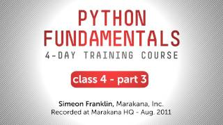 Python Fundamentals Training - More on Standard Libraries, Web Handling, and Unittest