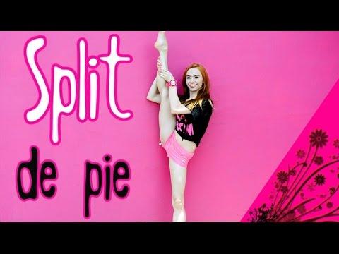 Split de pie o subir la pierna arriba/ ejercicios de flexibilidad
