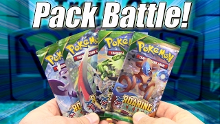 Pokemon Cards - Roaring Skies Pack Opening Battle vs FlamingAxel! by The Pokémon Evolutionaries