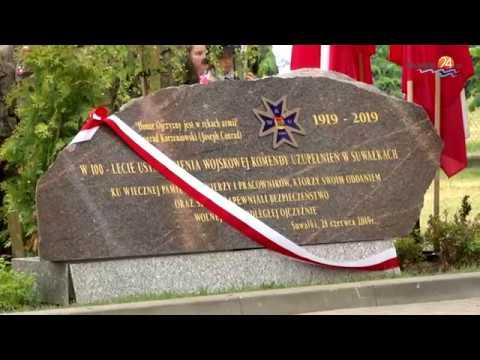 Odsłonięcie pomnika i piknik. Setna rocznica utworzenia Wojskowej Komendy Uzupełnień w Suwałkach