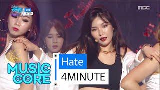 [HOT] 4MINUTE - hate, 포미닛 - 싫어 Show Music core 20160213, clip giai tri, giai tri tong hop