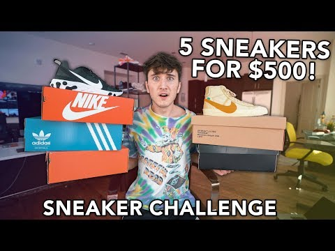 5 SNEAKERS FOR $500 (COMBINED) CHALLENGE! видео