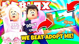 We Did It Beating The Impossible Adopt Me Obby Roblox