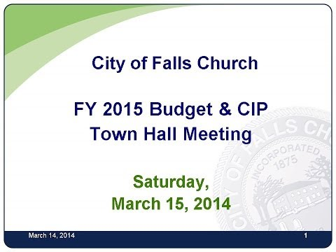 Budget Town Hall Meeting March 15, 2014