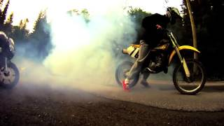 7. Suzuki RM85 2004 Burnout in 120 Km/h all gears GoPro HD