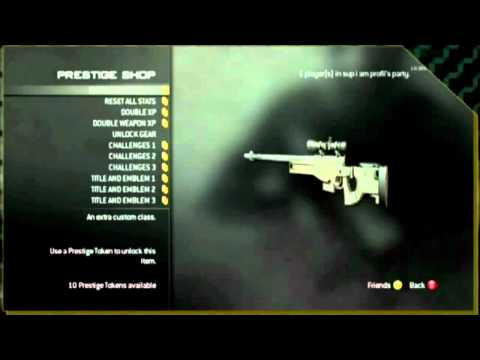 MW3 Prestige Shop/Mode Information (W/ Nice Black Ops Gameplay and Extra Info)