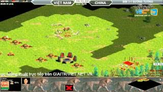 BiBi vs Sướng Tưởng  Random  30/7/2015   Trận 4, game đế chế, clip aoe, chim sẻ đi nắng, aoe 2015