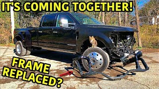 Rebuilding A Wrecked 2019 Ford F-450 Platinum Part 5