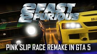 Nonton GTA 5 - 2 Fast 2 Furious Pink Slip Race Remake Spot On! Film Subtitle Indonesia Streaming Movie Download