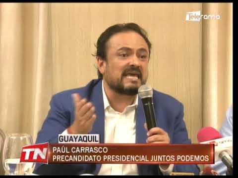 Carrasco anuncia su precandidatura oficial para presidencia de la república