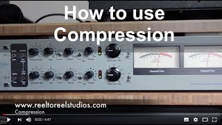 This is how you use compression.