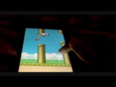 Gamer Shows score 246 points in Flappy Bird