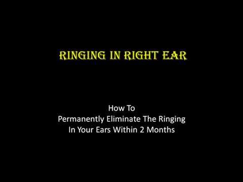 RINGING IN RIGHT EAR | HOW TO CURE RINGING IN RIGHT EAR