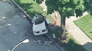 A medical examiner was called Monday afternoon to a single-car crash on Fond du Lac Avenue near Capitol Drive.READ MORE: https://goo.gl/dahYda