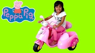 Video Pink Peppa Pig Ride On Power Wheels Motor Bike | Surprise Toy Unboxing & Assembly Playtime Kids Fun MP3, 3GP, MP4, WEBM, AVI, FLV Desember 2018