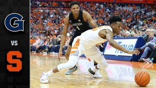 Georgetown vs. Syracuse Basketball Highlights (2018-19)