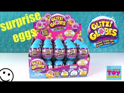 Glitzi Globes Surprise Eggs Snow Globe DIY Arts & Crafts Opening | PSToyReviews