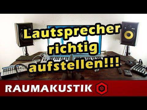Raumakustik - 1 - Studio Lautsprecher richtig aufstellen