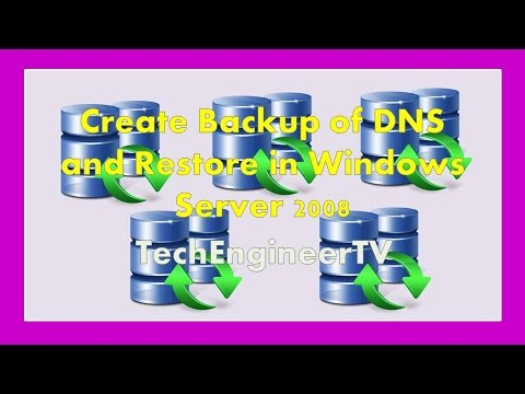 how to recover dns server 2008