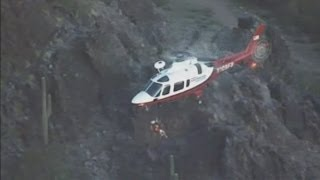 Cliff fall: Teen rescued after plummeting 30ft onto jagged rocks in Arizona, USA