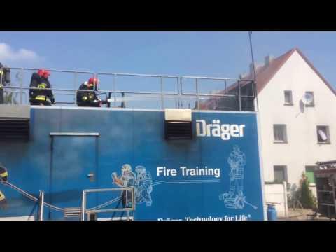 Wideo1: Pożar pod kontrolą - ćwiczenia kościańskich strażaków 1