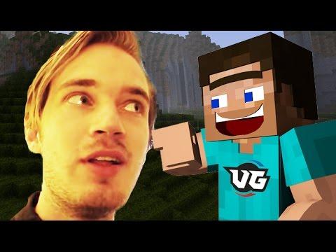 PEWDIEPIE CAUGHT PLAYING MINECRAFT! (Minecraft Insanity Trolling!)