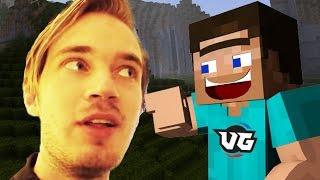 PEWDIEPIE CAUGHT PLAYING MINECRAFT?! (Minecraft Insanity Trolling!)