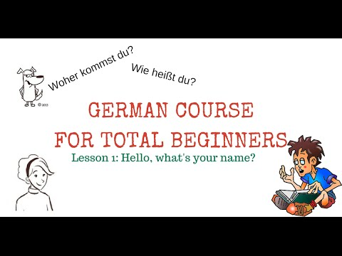 Learn German FREE - LESSON 1: Hello, what's your name? - with subtitles in English and French & PDF! (видео)