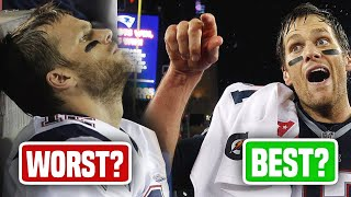 Tom Brady's 5 Absolute WORST Games as a Patriot...and His 5 GREATEST by Total Pro Sports