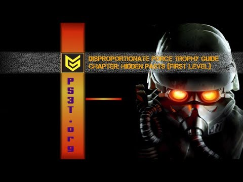 disproportionate - Full Trophy Guide: http://www.ps3trophies.org/forum/showthread.php?t=177542&ref Chapter: Hidden Pasts Level # 1 Kill 1 unfortunate Helghast soldier with 3 ro...