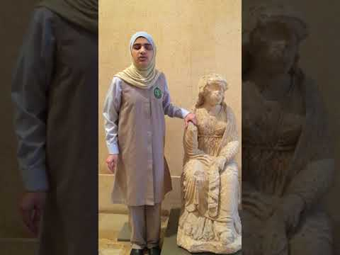 A blind girl about her experience of touching art at the National Museum of Beirut