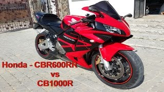 4. Honda CBR600RR vs CB1000R Drag race Test-drive Top speed