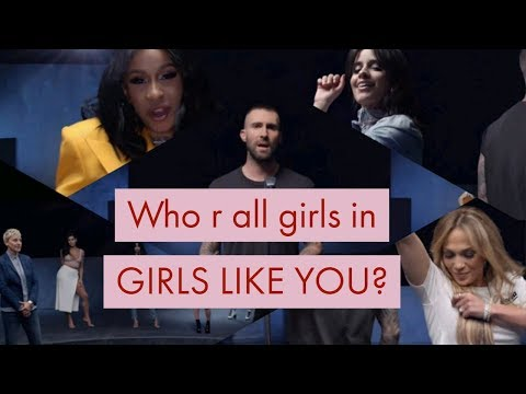 26 women celebrities in Maroon 5 - Girls like you ft. Cardi B volume 2