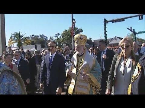 Στον εορτασμό Αγιασμού των Υδάτων στο Τάρπον Σπρινκς ο πρωθυπουργός Κυριάκος Μητσοτάκης