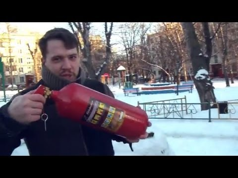 BEST FOR USA WINTER! Extreme removing snow from the car using a CO2 extinguisher (Russian style).
