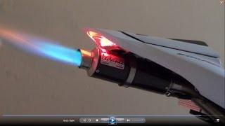 9. Honda CBR600RR 2012, Full Rpm, Exhaust Flames Fire (istimewa)