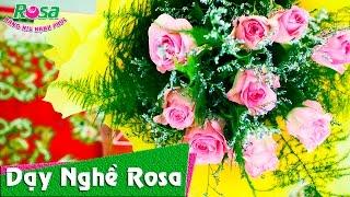 Hướng dẫn bó hoa hồng tươi cho ngày 8-3