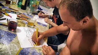 We are in Zrce Croatia and we decided to do a friendly graffiti sketch battle. Some of my friend are ex graffiti writers, I used to do graffiti paintings with them.●●●●●●●●●●●●●●●●●●●●●●●●●●●●●●●●●●●My Art supplies:1. Markers: http://amzn.to/2sdrkAg2. Markers: http://amzn.to/2sdjbMiPainting Mask: http://amzn.to/2rCKYXEMy Tech gear:Drone: http://amzn.to/2sF1sP2Camera: http://amzn.to/2rrQus2POV Camera: http://amzn.to/2rDlRnwComputer: http://amzn.to/2sL5iWu●●●●●●●●●●●●●●●●●●●●●●●●●●●●●●●●●●●MY SHOP: http://doke.bigcartel.com/●●●●●●●●●●●●●●●●●●●●●●●●●●●●●●●●●●●FOLLOW ME:Facebook : http://on.fb.me/1NK2053Instagram : http://bit.ly/21aOj9n●●●●●●●●●●●●●●●●●●●●●●●●●●●●●●●●●●●●CONTACT ME:Email : doketv.info@gmail.com●●●●●●●●●●●●●●●●●●●●●●●●●●●●●●●●●●●●SEND ME SOMETHING:Martin HirnerP.O.BOX 1285003, Bratislava 53●●●●●●●●●●●●●●●●●●●●●●●●●●●●●●●●●●●●MUSIC :Song: https://www.youtube.com/watch?v=xzX4PWZT3A0[T-Mass]• http://facebook.com/tmassofficial• http://soundcloud.com/t-mass• http://twitter.com/tmassofficialBeat maker:https://soundcloud.com/funky_fella