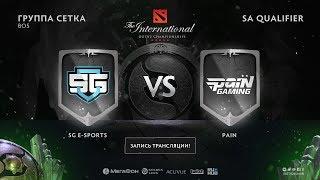SG e-sports vs paiN Gaming, game 3, The International NA QL [Mortalles, Lum1Sit ]