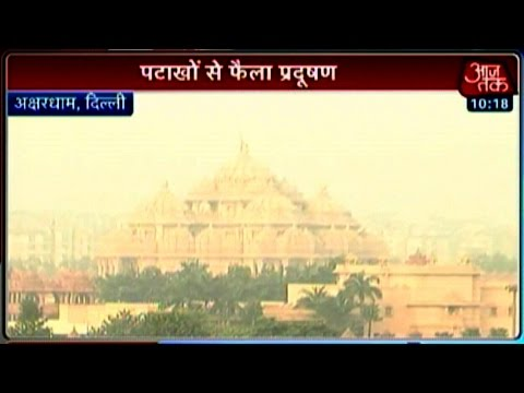 Diwali fire crackers burst up pollution levels in Delhi 24 October 2014 11 AM