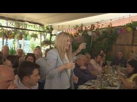 Στην Καισαριανή η Φώφη Γεννηματά με ευρωβουλευτές και στελέχη του κόμματος