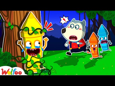 Wolfoo, Help Me! - Wolfoo Learns Colors With The Talking Crayons | Wolfoo Family Kids Cartoon