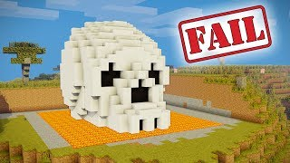 Minecraft Tutorial: How to Make a Skeleton House | Scary House | Survival House | Skull - FAIL