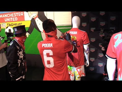 Manchester United Players Spray Paint Their Club Shirts At TAG Heuer Event