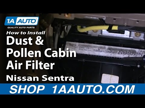 How To Install Replace Dust and Pollen Cabin Air Filter Nissan Sentra 00-06 1AAuto.com