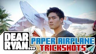 Video Ultimate Paper Airplane Trickshot! (Dear Ryan) MP3, 3GP, MP4, WEBM, AVI, FLV Juli 2018